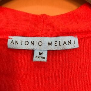 ANTONIO MELANI Tops - Antonio Melani Sleeveless Orange V-Neck Knit Sz M